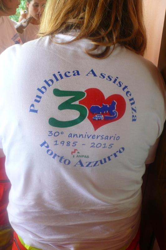 logo 30 anni pubblica assistenza porto azzurro