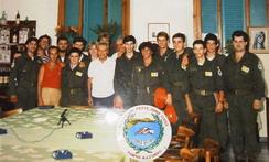 La Squadra Volontari Protezione Civile Porto Azzurro con il Generale Luigi Poli (1987)