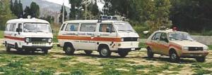 i primi mezzi mobili della Protezione Civile Porto Azzurro