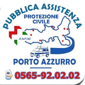 il logo della pubblica assistenza porto azzurro