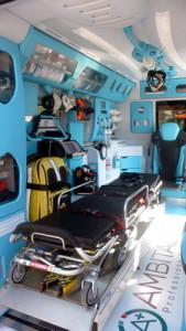 Interno ambulanza Pubblica Assistenza Porto Azzurro