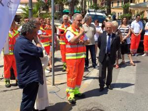 Giovanni Aragona Presidente Pubblica Assistenza Porto Azzurro alla festa dei 30 anni di costituzione