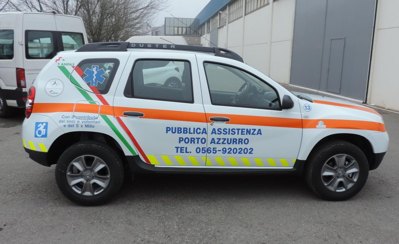 mezzo polivalente di trasporto della Pubblica Assistenza Porto Azzurro